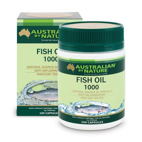 Australian by Nature Fish Oil 1000mg 100 Capsules