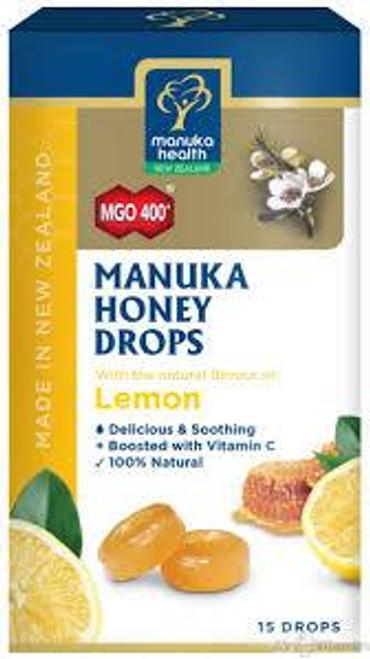 MGO 400+ Manuka Honey Drops Lemon Flavour 15 drops