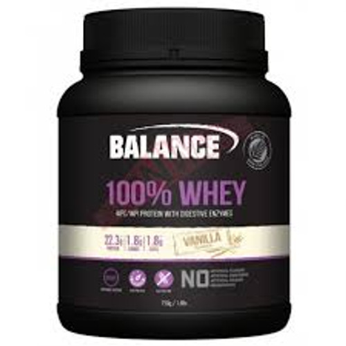 BALANCE 100% WHEY WPC/WPI PROTEIN WITH DIGESTIVE ENZYMES-VANILLA