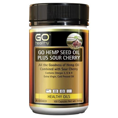 Go Healthy Hemp Seed Oil Plus Sour Cherry 100 Capsules