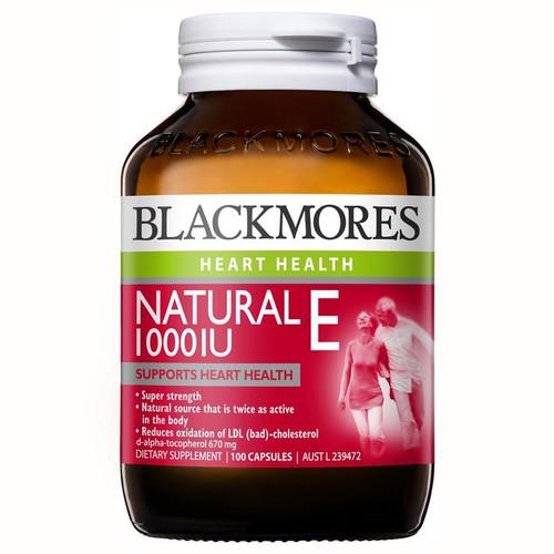 Blackmores Natural E 1000IU 100 Capsules