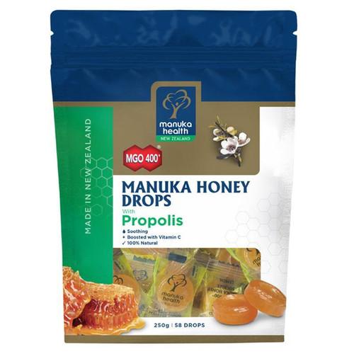 Manuka Health Manuka Honey Drops Propolis Pouch Lozenges 250g