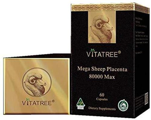 Vitatree Mega Sheep Placenta 80000 Max / 60 Capsules