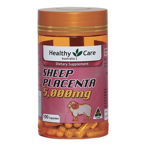 Healthy Care Sheep Placenta 5000mg 100 Capsules
