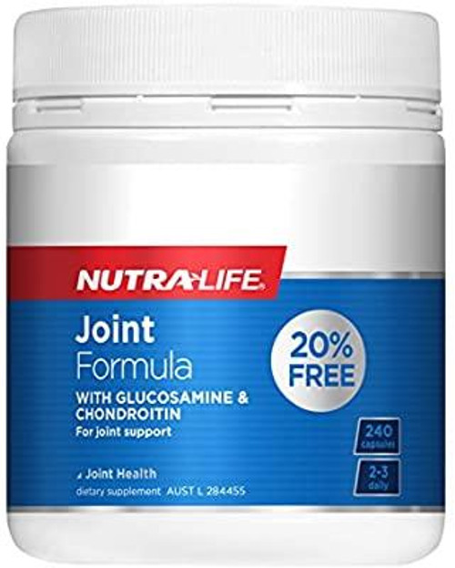 Nutralife Joint Formula with Glucosamine & Chondroitin 240 Capsules