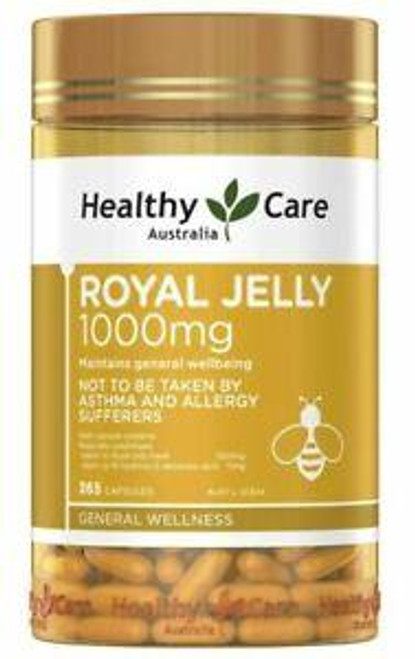 Healthy Care Royal Jelly 1000mg - 365 capsules