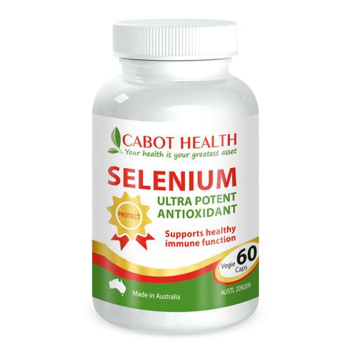 Cabot Health Selenium Ultra Potent Organic 60 Capsules