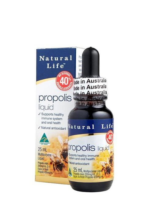 Natural Life Propolis Liquid Double Strength 40% 25 mL