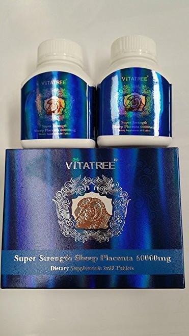Vitatree Premium Super Strength Sheep Placenta 60000 Mg 60 x 2 Tablets