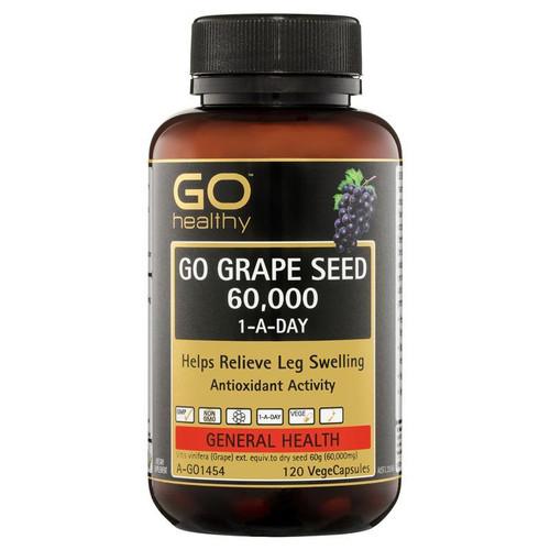 Go Healthy Grape Seed 60000mg 120 Vege Capsules