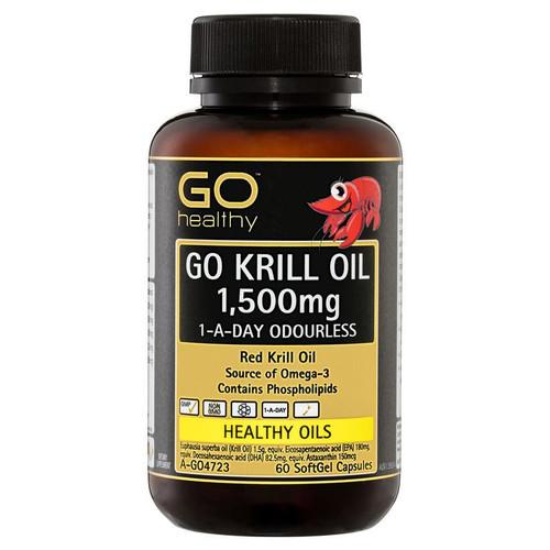 Go Healthy Krill Oil 1500mg 60 Capsules