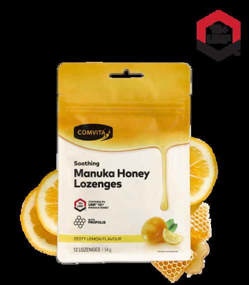 Comvita Manuka Honey Lozenges with Propolis (Lemon and Honey) 12 Lozenges