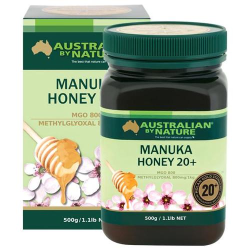 Australian By Nature  20+ 500g Manuka Honey - 100% New Zealand (MGO 800)