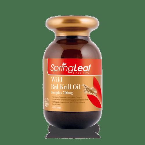 Springleaf-Wild Red Krill Oil Complex 700mg 60 Capsules