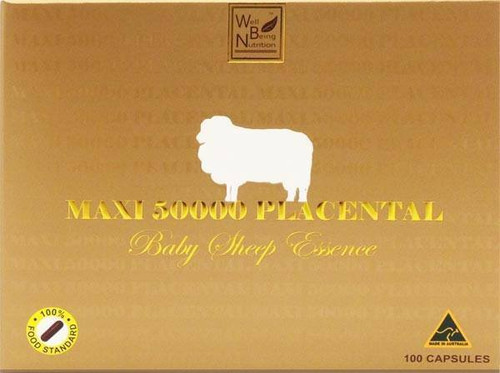 Well Being Nutrition MAXI 50000 Placental Baby Sheep Essence - 100 Capsules