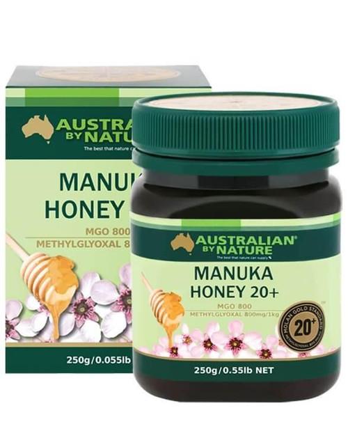 Australian By Nature  20+ 250g Manuka Honey - 100% New Zealand (MGO 800)