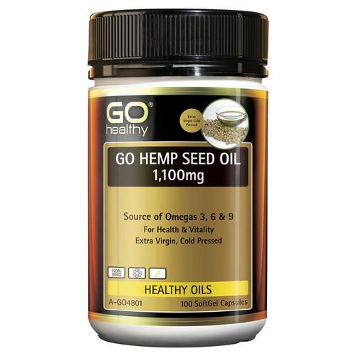 Go Healthy Hemp Seed Oil 1100mg 100 Softgel Capsules
