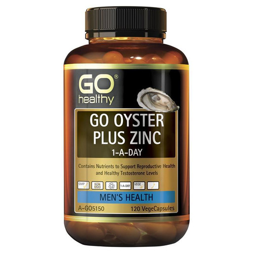 Go Healthy Oyster Plus Zinc 120 Vege Capsules