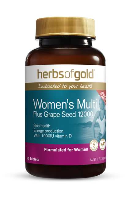 Herbs of Gold Women's Multi Plus Grapeseed 12000 / 60 tablets