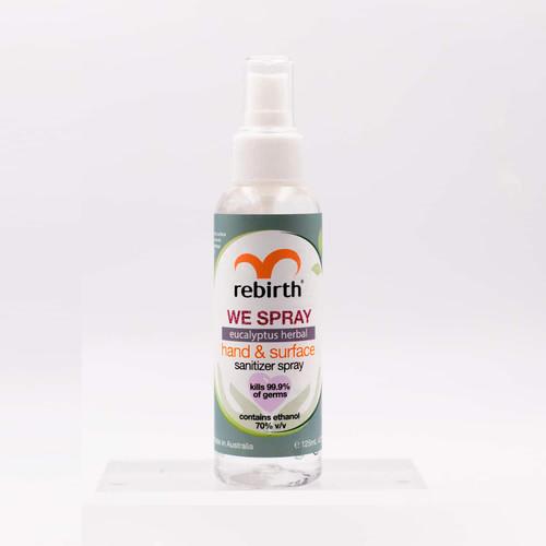 Rebirth We Spray Eucalyptus Herbal Sanitizer Spray 125mL