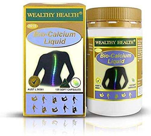 Wealthy Health Bio Calcium Liquid 120 Capsules