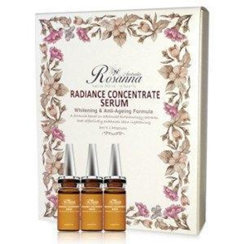 Rosanna Radiance Concentrate Serum - Whitening & Anti-Ageing Formula - 8ml x 3 Ampoules