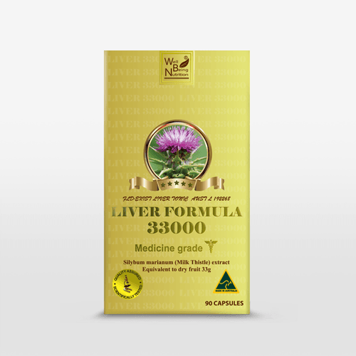 Well Being Liver Formula Milk Thistle 33000mg 90 Tablets SILYBUM MARIANUM extract – The best Liver Tonic