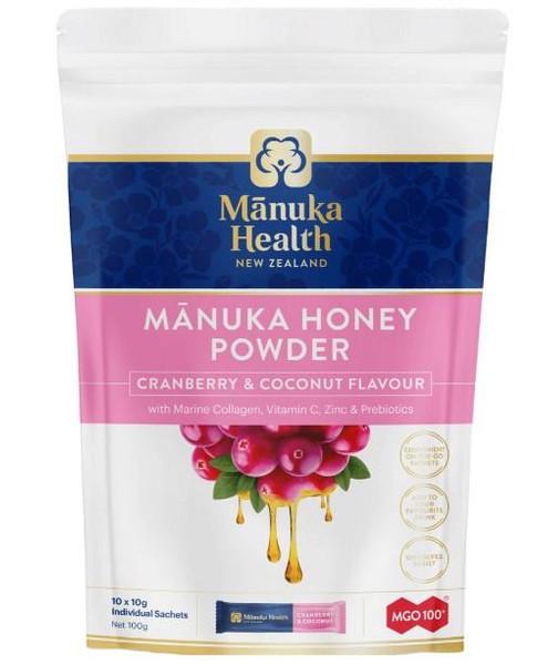 Manuka Health Manuka Honey Powder Cranberry & Coconut Flavour