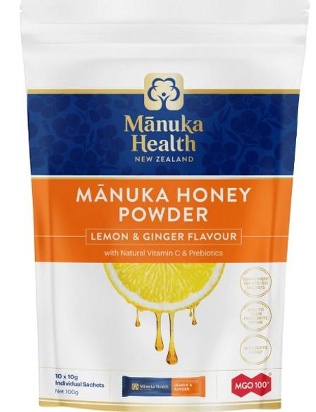 Manuka Health Manuka Honey Powder Lemon & Ginger Flavour