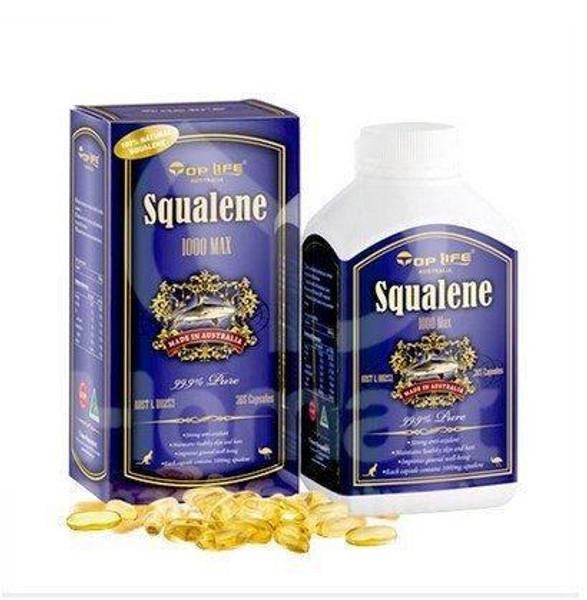 Top Life Squalene 1000Max Pure 99.9% - 365 Capsules