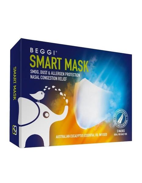 Beggi Smart Mask - 5 Mask (White)