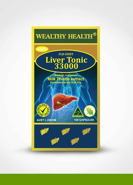 Wealthy Health Liver Tonic 33000mg / 100 Capsules