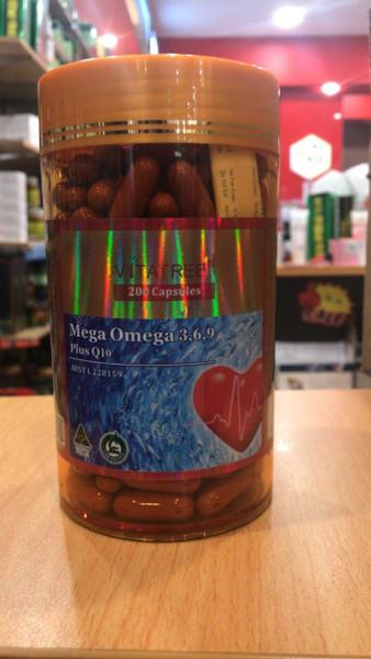 Vitatree Omega 3,6,9 Plus CoQ10 / 200 Capsules