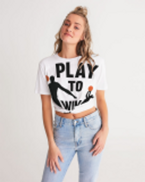 Women's Cropped Top-Basketball