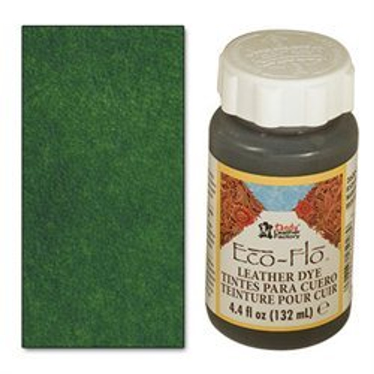 Forest Green Eco-Flo Leather Dye 4.4 oz (132 mL) 2600-14