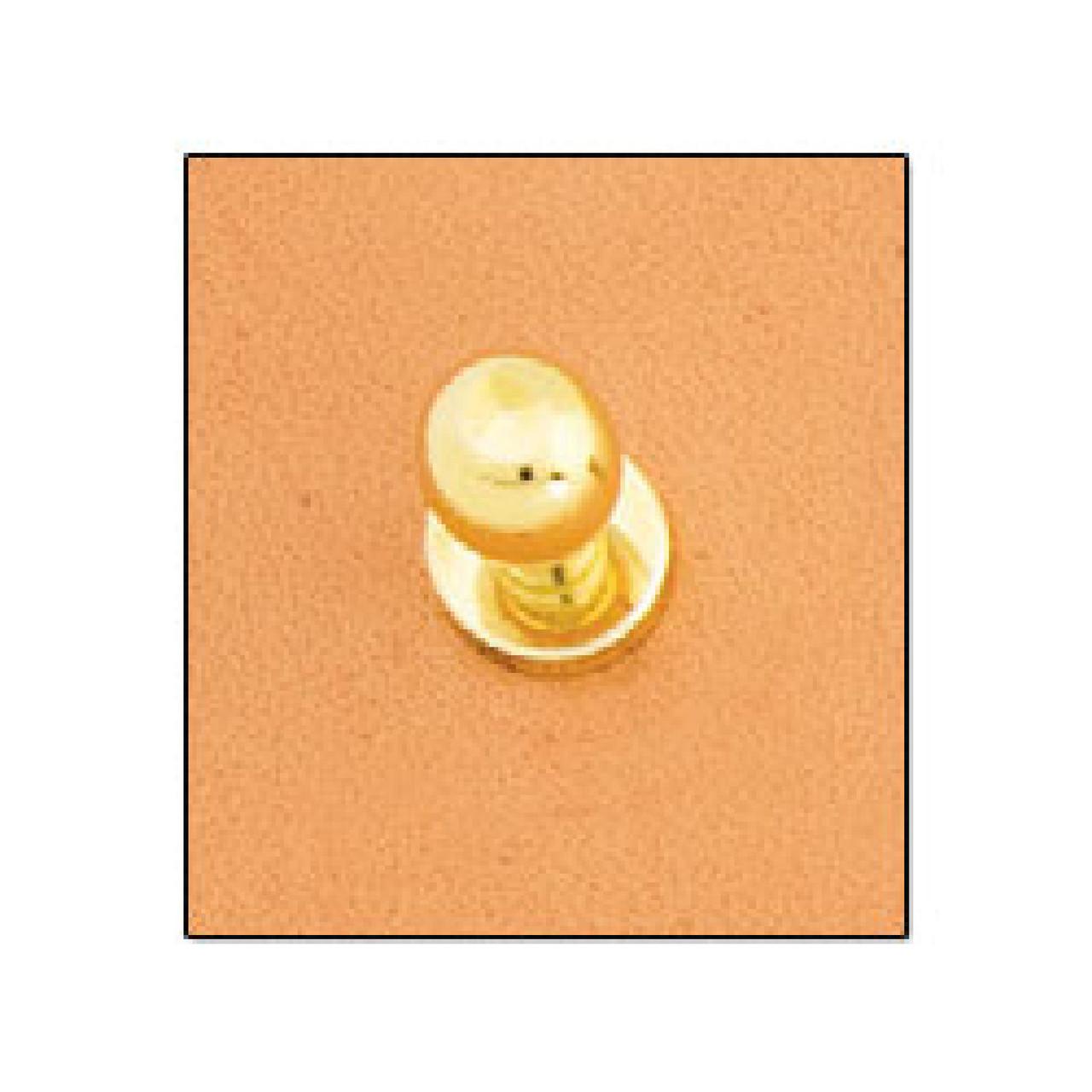 "Button Stud 1/4"" (7mm) Screwback Nickel Free Brass Plate"
