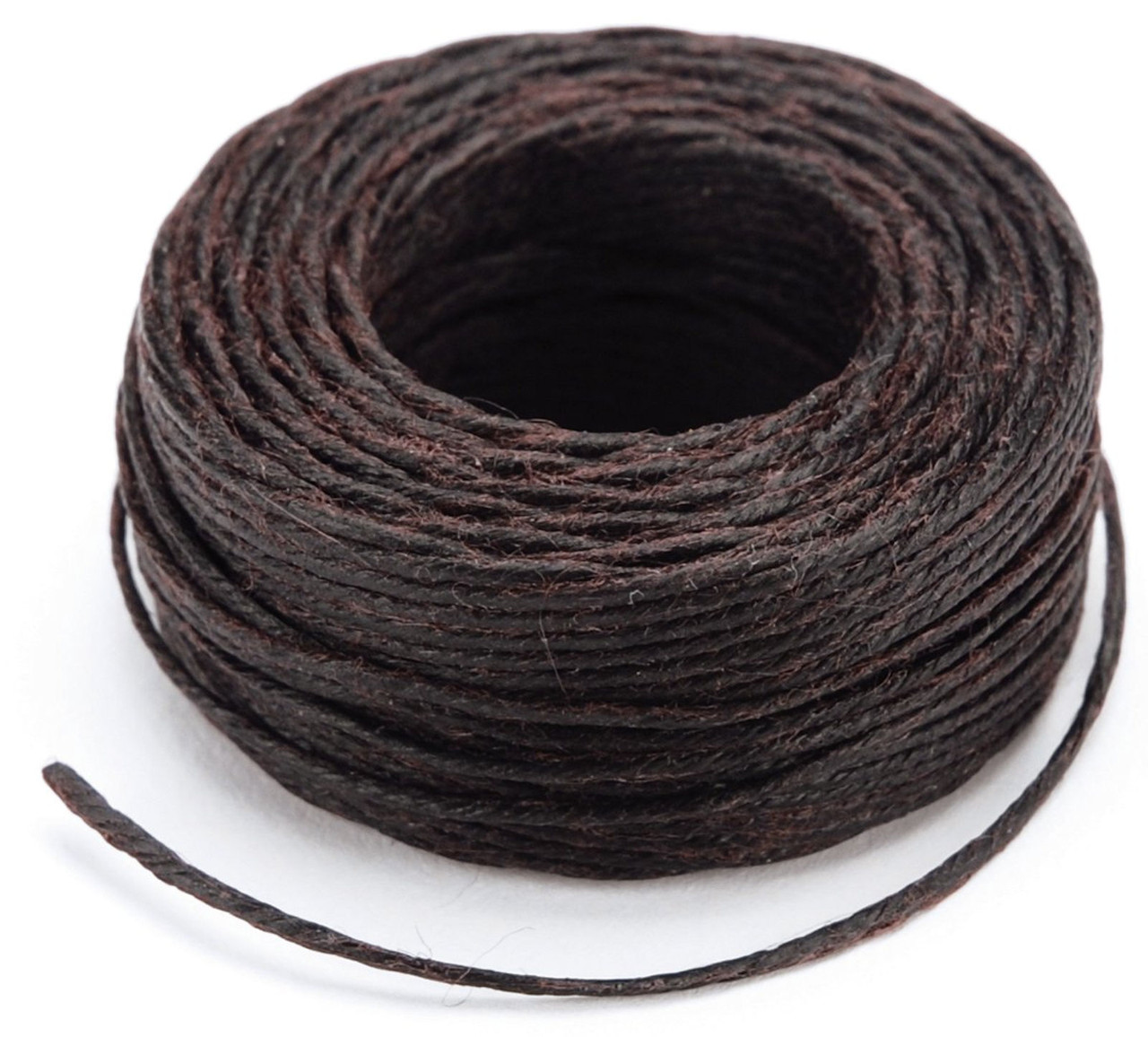 22.9 m Tandy Leather 1227-03 Waxed Nylon Thread White 25 yds.