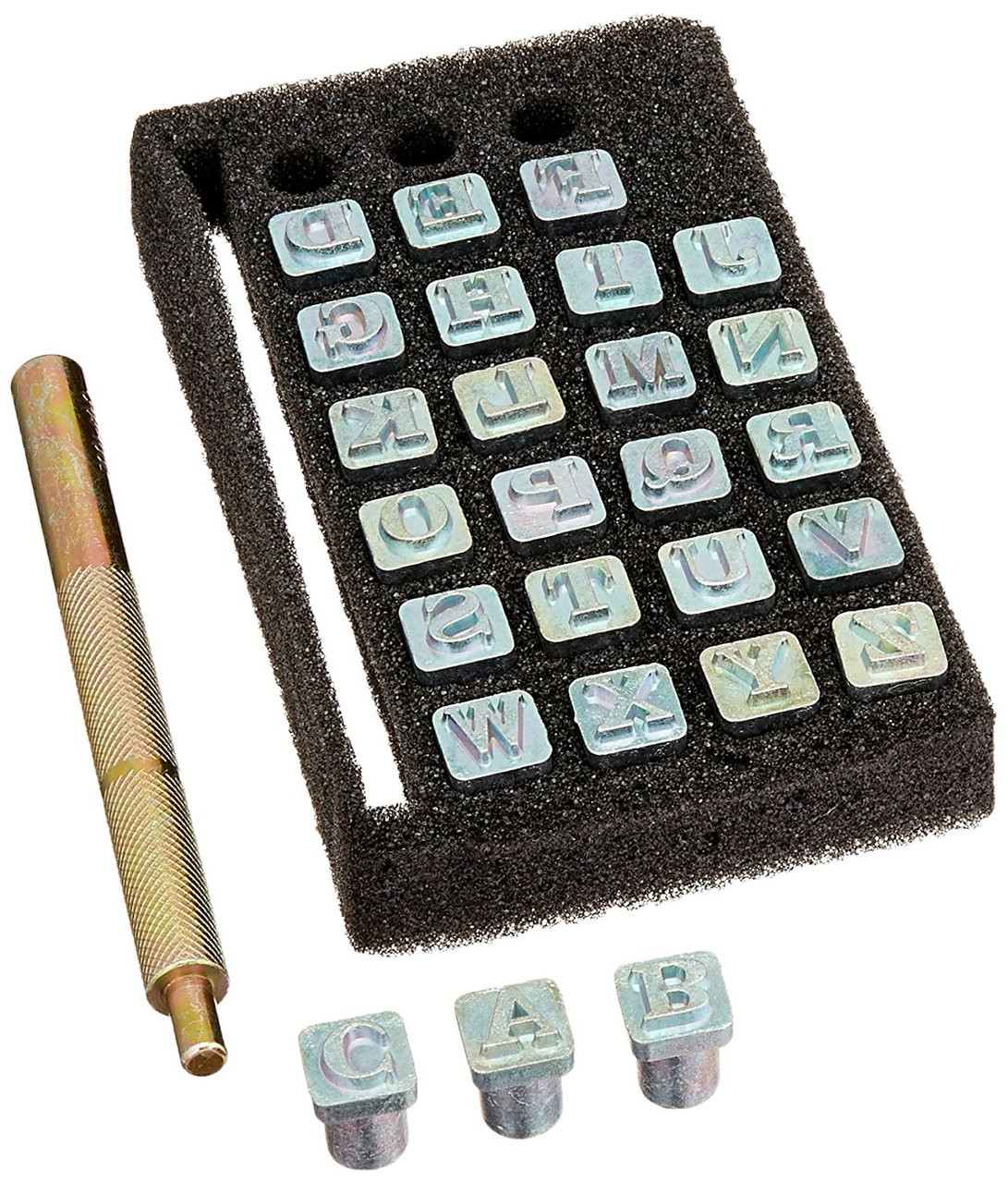 Tandy Leather Easy-To-Do Stamp Set Alphabet