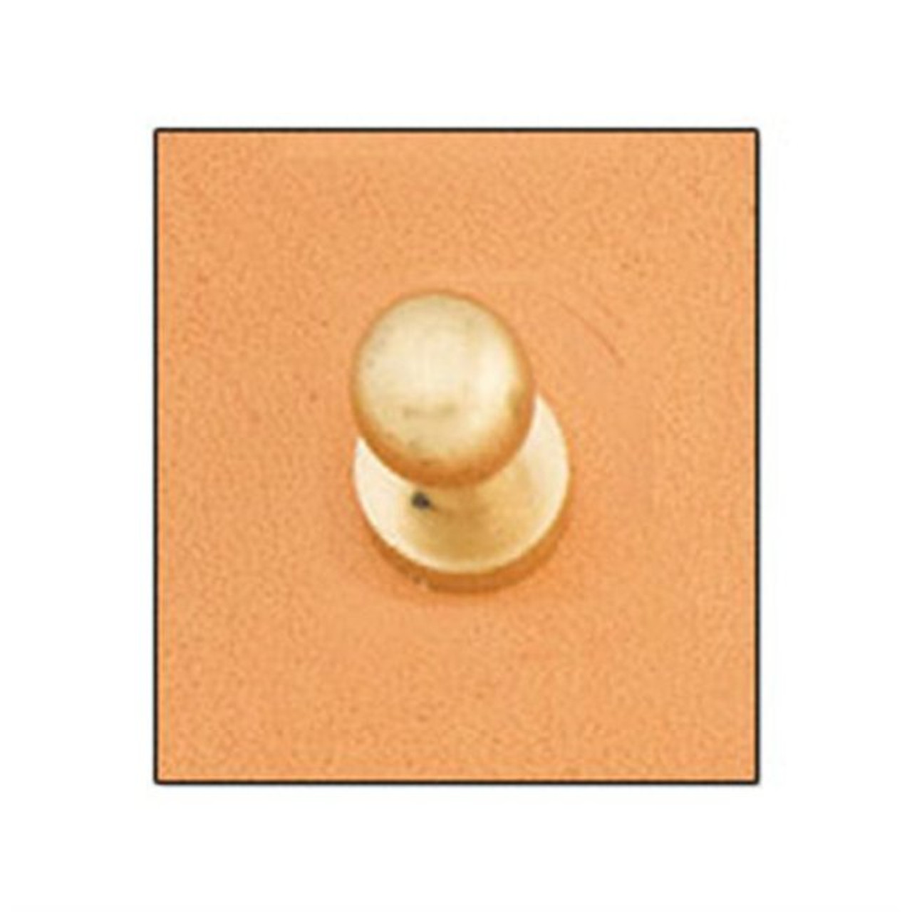 Button Stud 8mm Screwback Solid Brass