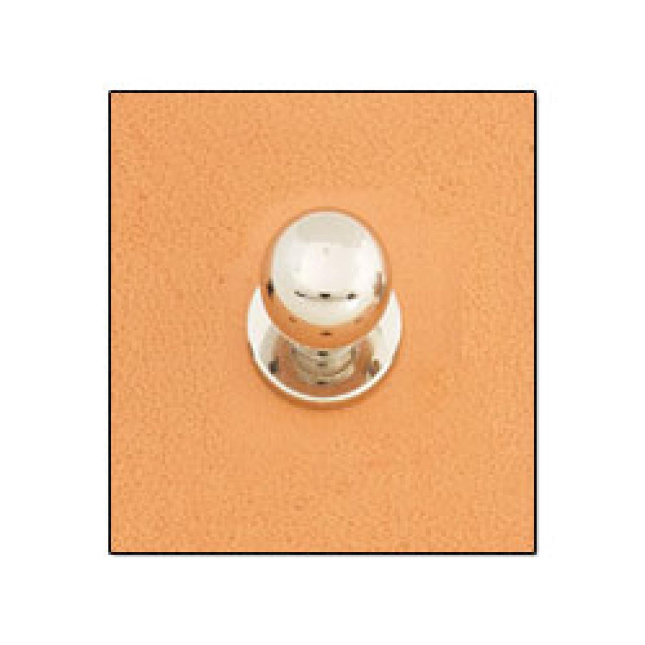 """Button Stud 5/16"""" (8 mm) Screwback Nickel Free Nickel Plate"""