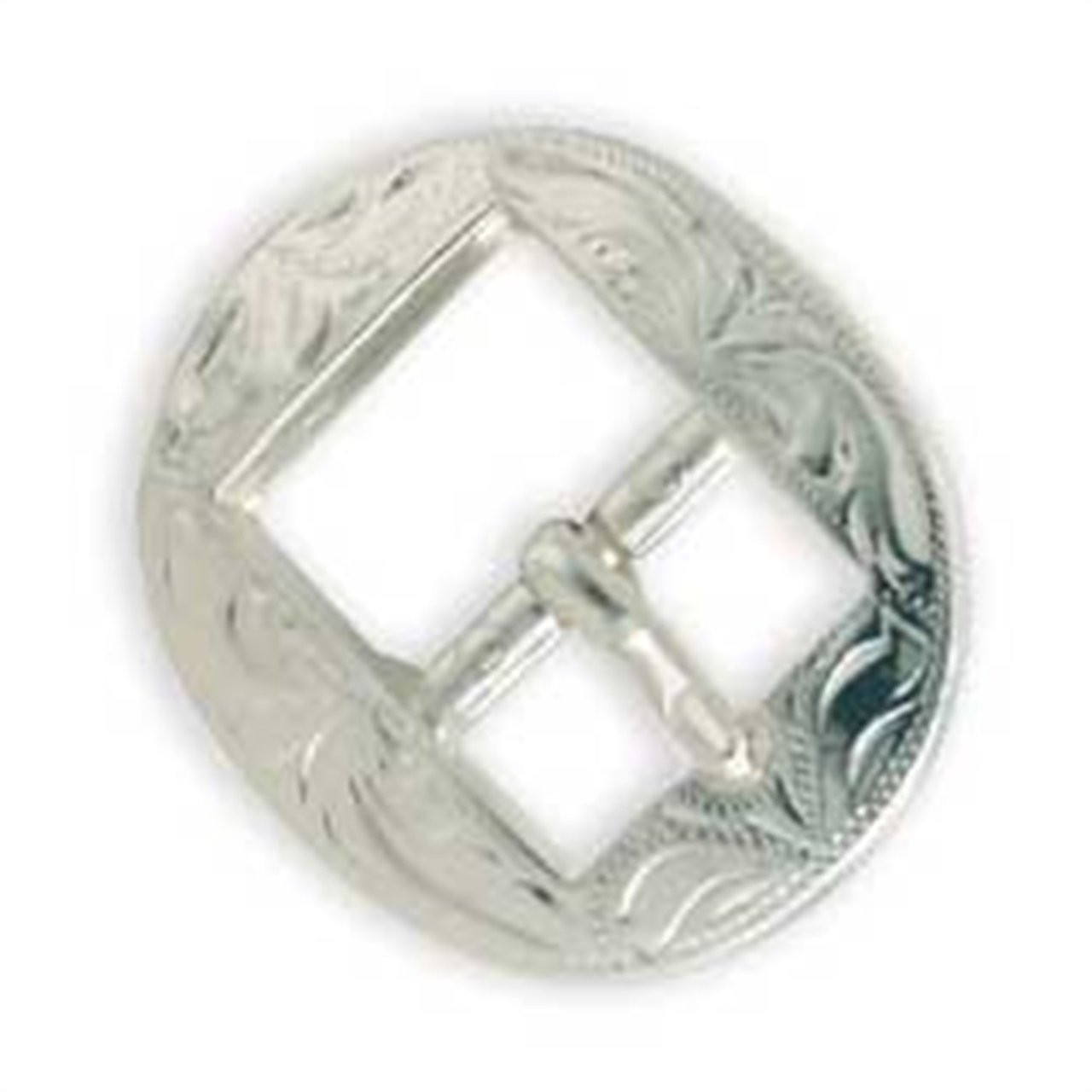 Engraved Bridle Buckle with Silver Platting