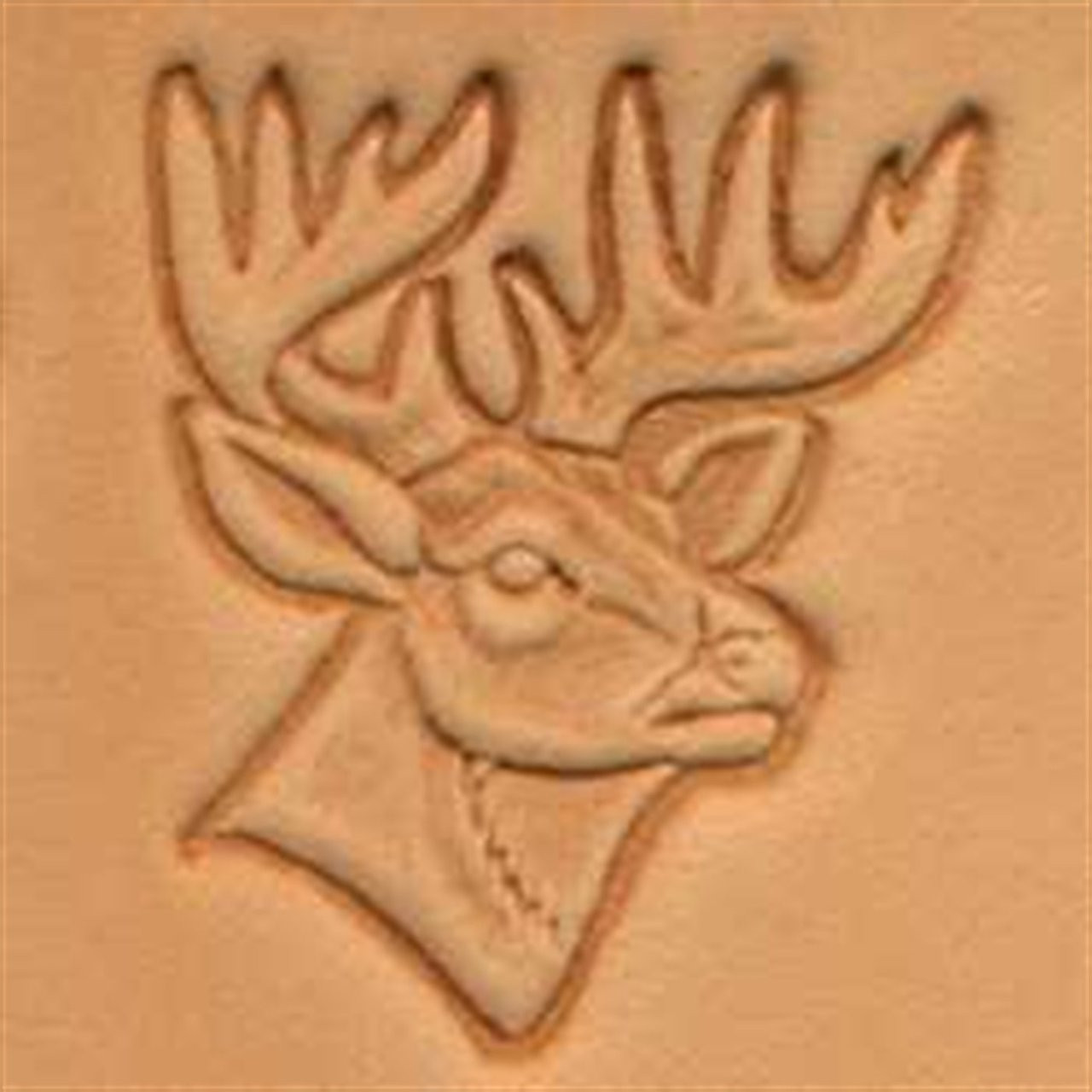 Craftool 3d Deer Head Stamp 88341 00 By Tandy Leather Stecksstore