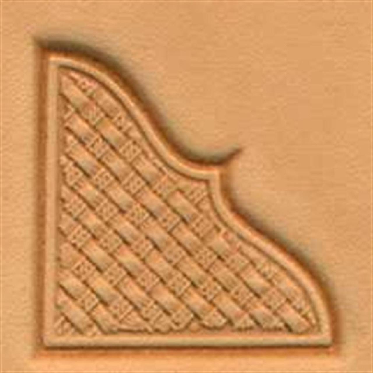 Craftool Basketweave Corner 3D Stamp 8535-00