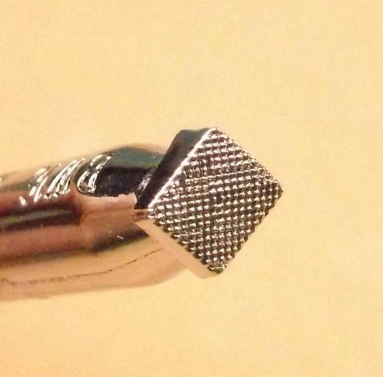 "3/16"" x 3/16"" Beveler Checkered Leather Stamp BW16"