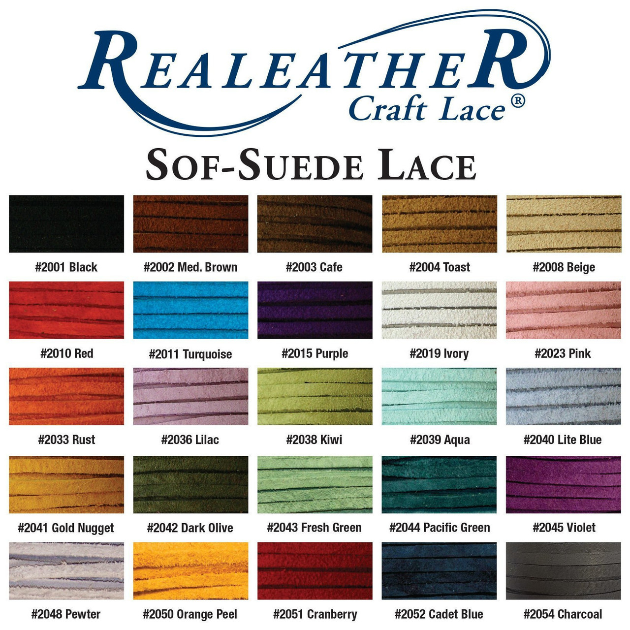 Suede Lace Red Color Chart