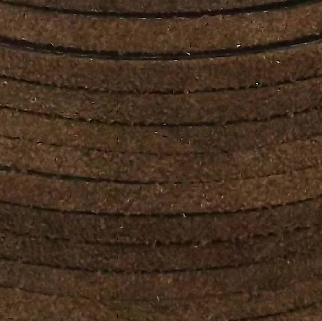 """Suede Lace Chocolate 1/8"""" x 25 yds. by Real Leather Made in USA"""