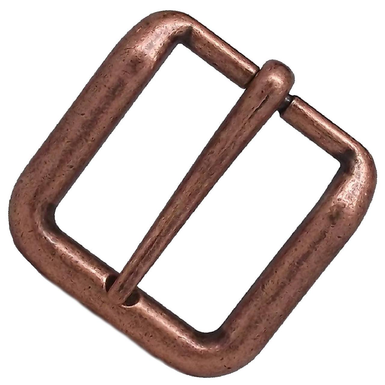 Solid Wave Belt Buckle Antique Copper