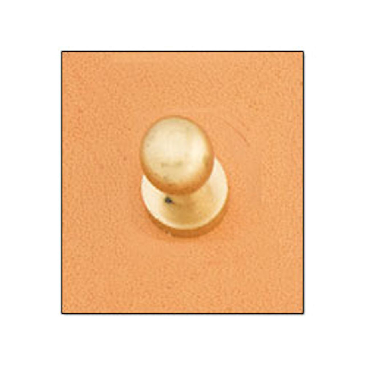 Button Stud 10mm Screwback Brass 11311-53
