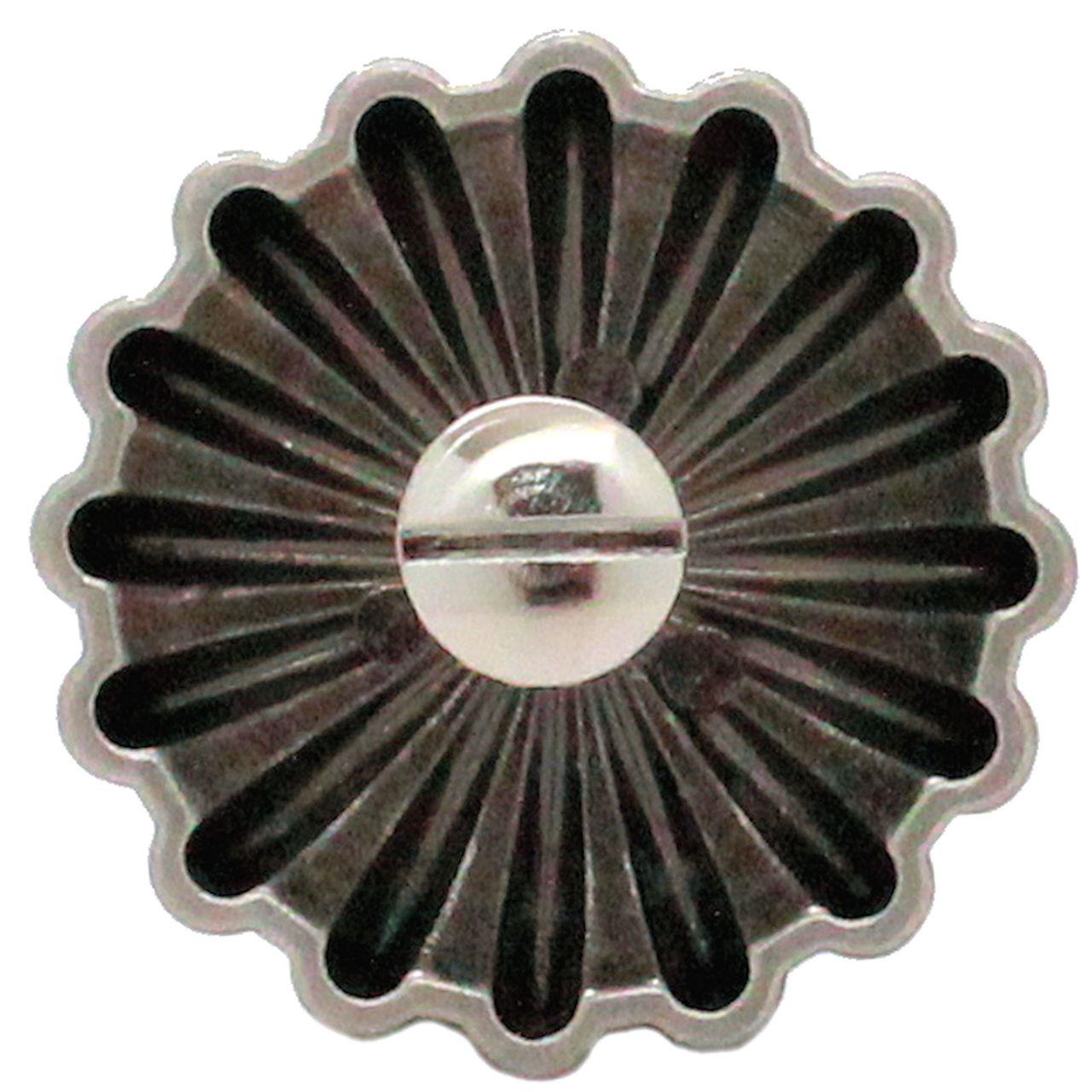 "Parachute Concho Antique Nickel 1.5"" Back"