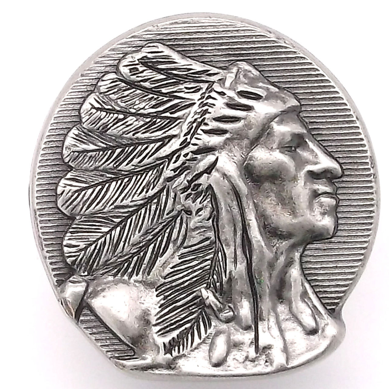 "Chief Left Facing Antique Nickel Decorative Snap Cap 1-1//8/"" 1265-60"
